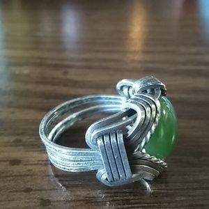 Vintage Jewelry - 💥 Vintage size 6 Hand-made ring 💥